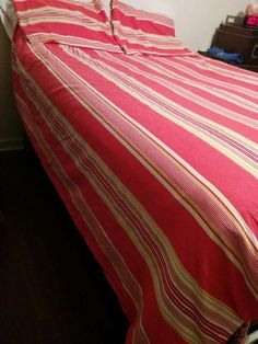BUY IT NOW! FREE SHIPPING!  Pottery Barn Full/Queen 100% Cotton Duvet Cover + Shams Salmon and White  | eBay