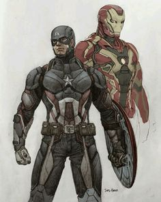 Iron Man and Captain America..........