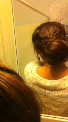 Cute easy hairstyle for school