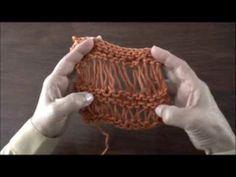 Instrucciones del punto vainilla (recto y en degradé) tejido en dos agujas o palillos