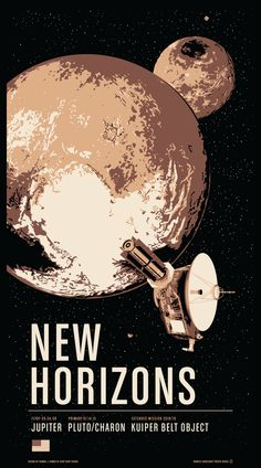 Historic Robotic Spacecraft Poster Series Two featuring New Horizons at Rosetta's exploration and landing on a comet and Galileo in the Jupiter System. Available as a limited edition screen print or as archival digital prints at or 1 Arte Sci Fi, Sci Fi Art, Nasa, Space Illustration, Space Race, Vintage Space, Poster Series, Space And Astronomy, Space Exploration