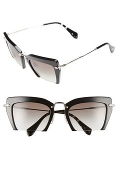 7ad1c29912f Miu Miu  Noir  54mm Cat Eye Sunglasses available at  Nordstrom Miu Miu  Sunglasses