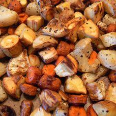 Sherry Roasted Root Vegetables--Booze 'n Food