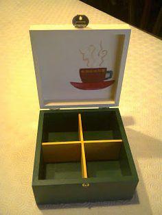 Caixa de Chá, 4 Divisões || Tea Box, 4 Divisions