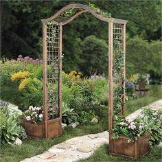 Resin Garden Arch Trellis