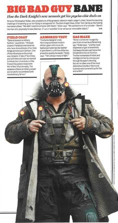 Bane from The Dark Knight Rises - why he wears the mask