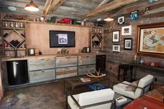 Reclaimed barn wood - perfect for a man-cave...
