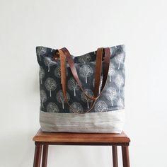 Original Handmade Canvas and Leather Casual Tote Shoulder Bag Carry all Bag 14041 - LISABAG - 1