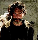 When Rick Grimes tilts his head, some asshole usually ends up dead