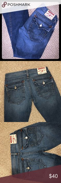 Men's True Religion Bootcut Joey Jeans 32x31 Pre-owned premium denim in excellent condition. Hot 🔥 as hell 👹, twisted hem. Get these rare Joey jeans 👖 before they're gone! Waist 32, inseam 31. True Religion Jeans Bootcut