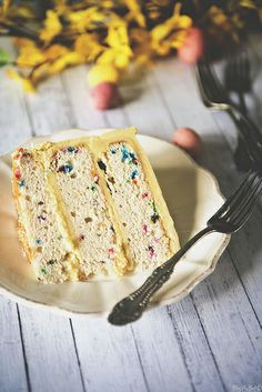 Confetti Layer Cake with Vanilla Frosting