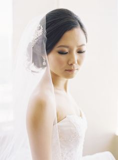 Photography: Caroline Tran - carolinetran.net Hair & Makeup: Theresa Huang - theresahuang.com Read More: http://www.stylemepretty.com/california-weddings/2014/04/22/modern-meets-traditional-los-angeles-wedding/