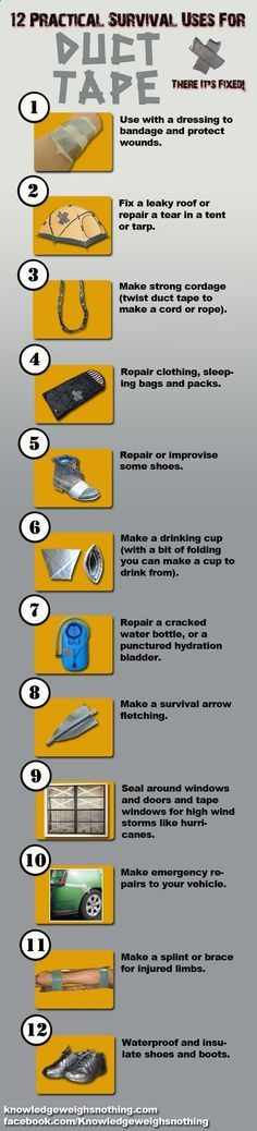12 practical survival uses for duct tape Rugged Thug