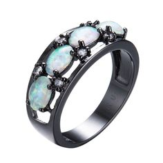 Cyber Monday Deals @JeremiahImports.com  Fashion Jewelry O...  http://www.jeremiahimports.com/products/fashion-jewelry-oval-white-fire-opal-rings-for-women-christmas-gift-vintage-black-gold-filled-cz-diamond-engagement-ring-rb1114?utm_campaign=social_autopilot&utm_source=pin&utm_medium=pin