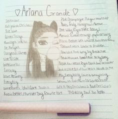 My drawing of Ariana grande❤❤