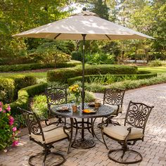 Shop Hanover Outdoor Furniture Traditions 5-Piece Aluminum Dining Patio Dining Set at Lowes.com