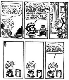 Mafalda. Un libro, un buen amigo.