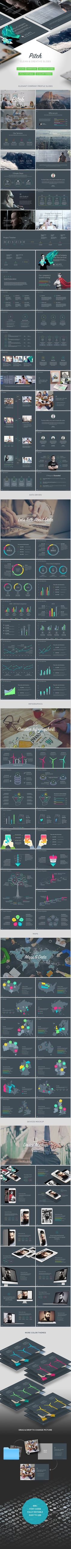 Business infographic & data visualisation Business infographic : Pitch Modern Keynote Template Keynote Templates Present... Infographic Description Busines