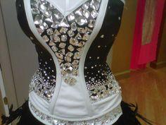 Chunky Swarovski crystal bodice with ostrich feather skirt by SONDRA CELLI Gypsy Dresses, Girls Dresses, Flower Girl Dresses, Huge Wedding Dresses, Sondra Celli, Romanian Gypsy, My Big Fat Gypsy Wedding, Gypsy Girls, Alternative Wedding