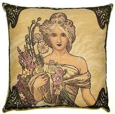 NEW-ALPHONSE-MUCHA-SPRING-PRINTEMPS-18-TAPESTRY-CUSHION-COVER-15G