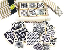 Life has never been so sweet. This graphic black and white cookie set arrives beautifully packaged in a coordinating gift box perfect for gifting or for hosting. Each box includes 1 dozen buttery sugar cookies, 6 large and 6 mini, from the Designer Modern Collection. As always, these architecture inspired cookies use the highest caliber ingredients for the discerning individual.