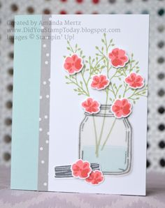 All Occasion Jar of Flowers by mandypandy - Cards and Paper Crafts at Splitcoaststampers