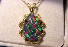 Idaho fire opal pendant