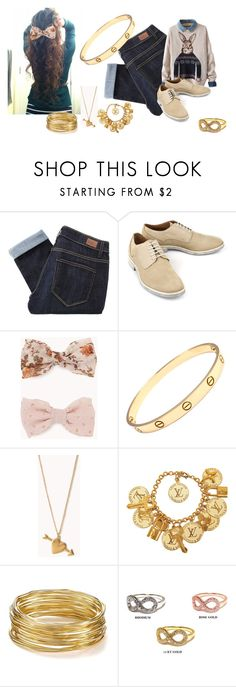 """""""In the city that we loved"""" by teamsydneynicole ❤ liked on Polyvore featuring Paige Denim, Forever 21, Cartier, Louis Vuitton, R.J. Graziano, women's clothing, women's fashion, women, female and woman"""