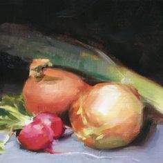 "Sadie Valeri on Instagram: ""Alla prima demo I painted for my workshop students. Winter vegetables #allaprima #stilllife #veggies #oilpainting"" Winter Vegetables, Sadie, Still Life, Workshop, Instagram Posts, Painting, Art, Craft Art, Atelier"