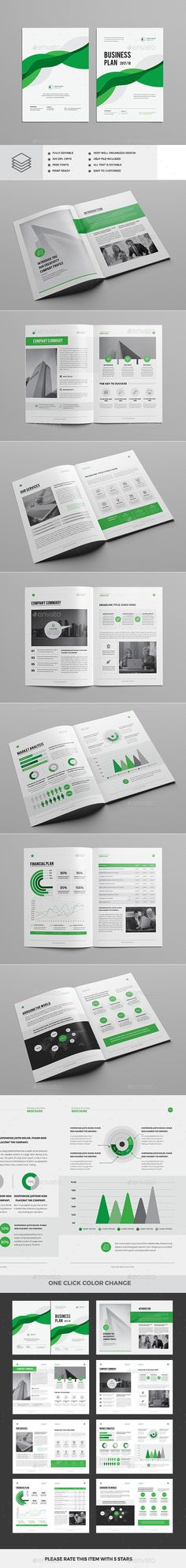Business Plan Brochure Template InDesign INDD