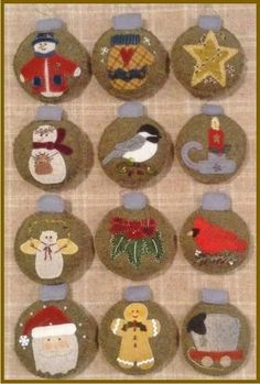 Our 2015 ornament of the month featured 12 quick and fun wool appliques. Now available in one pattern! Start your collection today!