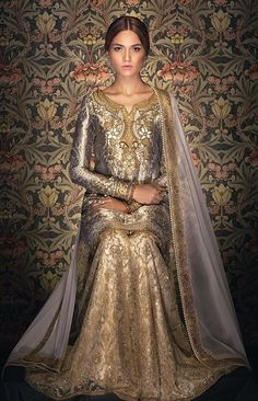 Irtiqa – Tena Durrani's Formal Collection for the Traditional YOU! Pakistani Couture, Pakistani Outfits, Traditional Fashion, Traditional Dresses, Walima Dress, Shadi Dresses, Engagement Dresses, Embroidery Fashion, Indian Wear