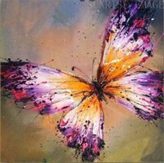 "P234G 20""x20"" Hand painted Oil Canvas Art Home Decor Abstract butterfly NO Frame"
