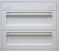 """Building Drawer fronts with beadboard inserts like I did in myMaster Closetis pretty easy because you can slap them together with pocket holes (unlike complicated """"invisible joinery"""" methods you ..."""