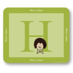 Little Folk Personalised Alphabet Placemat for Girls & Boys - Prickle the Little Hedgehog, made with any name Little Folk http://www.amazon.co.uk/dp/B007YZEZLO/ref=cm_sw_r_pi_dp_7HgKwb1BTC33R