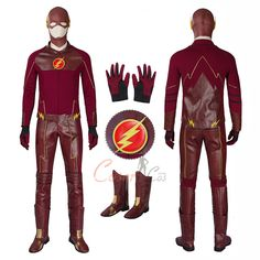 Item Number:dcthf005, The Flash Costume The Flash Season 1 Cosplay Barry Allen Full Set On Sale! CoserCos.com offers best quality Dulex cosplay costumes.