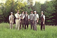 shabby chic groomsmen | Vintage Shabby Chic Wedding in Clarendon, Quebec