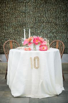 Table Decor Tip: Photo by: Jessica M. Wood Photography & Sincerely, A. Photography on Wedding Chicks Wedding Table Decorations, Wedding Table Numbers, Wedding Themes, Wedding Styles, Wedding Dresses, Cream Wedding, Diy Wedding, Wedding Flowers, Wedding Ideas