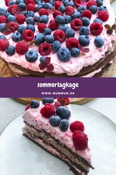 Danish Cuisine, Grill Dessert, Let Them Eat Cake, Raspberry, Sweet Tooth, Frisk, Deserts, Good Food, Food And Drink
