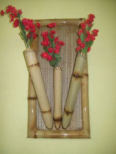 Artesanato com bambu 006