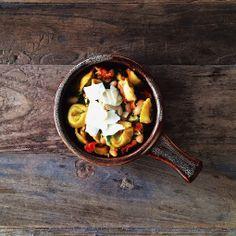 one pot tortellini with white beans and cherry tomato broth   slothful slattern