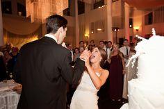 Jennifer Childress Photography | Wedding | Atrium at the Curtis Center | Philadelphia, PA | Loews Hotel | Cescaphe Events Group | Beautiful Blooms | Cheekadee | Bride and Groom | Wedding Cake    www.jennchildress.com