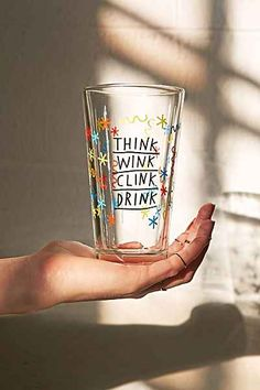 ADAMJK X UO Clink Wink Pint Glass