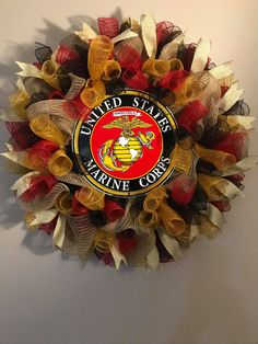 Looking for something truly unique for a member of our armed forces? Check out my military lines of wreaths. This one is for the United States Marines!! Whether you are an active or retired Marine or even a family supporting a Marine, let it be known by displaying this wreath. Wreath Ideas, Diy Wreath, Military Wreath, Hobbies For Men, Military Gifts, Family Support, Patriotic Wreath, Wreath Tutorial, Summer Wreath