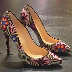Colorful Mexican-Inspired Christian Louboutin Beaded 'Miss Taos' Pumps