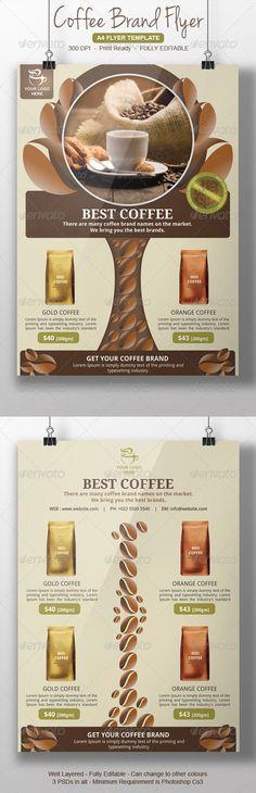 Coffee Brands Flyer