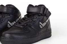 Tribal Nike Air Force 1 Custom Shoes by Brush Footwear #nike #airforce1 #brushfootwear #tribalprint #blackandwhite #customkicks #haindpaintedshoes #hightopsneakers