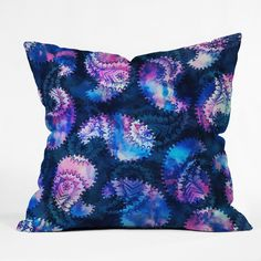 Schatzi Brown Anushka Paisley Blue Throw Pillow | DENY Designs Home Accessories