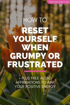 2 simple things you need to reset yourself if you're feeling grumpy, frustrated or negative. Plus - a free audio download of affirmations to amp your positive energy.