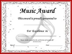 Image result for piano recital certificate template